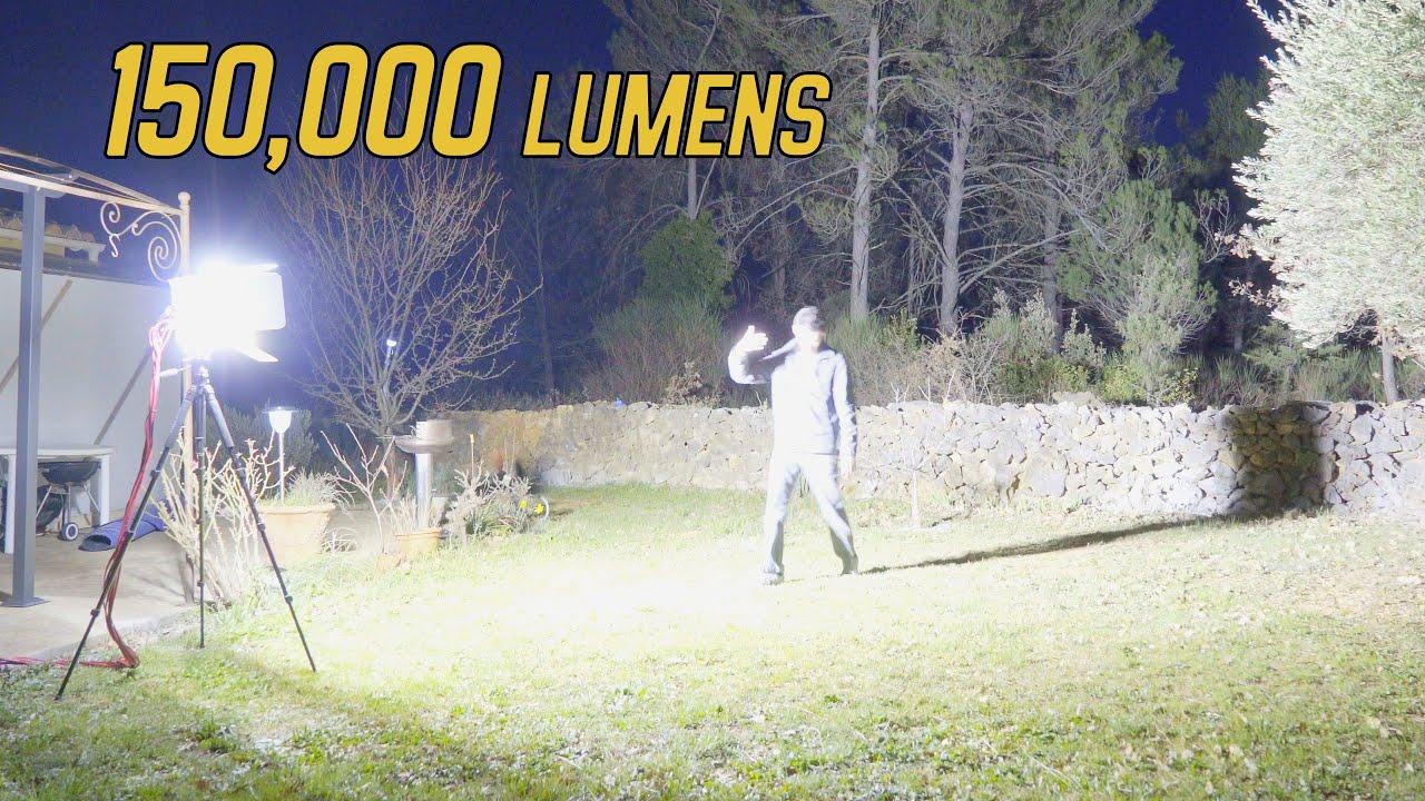Mon Spot Led 1600w Fait Maison 150 000 Lumens Youtube