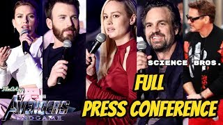 Avengers: Endgame Global Press Conference | Cast Gets Emotional | EMPTY CHAIRS for the FALLEN