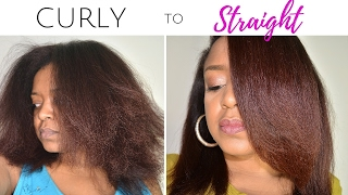 KINKY-CURLY TO STRAIGHT HAIR TUTORIAL ft. Andre Walker Hair | GIVEAWAY OPEN