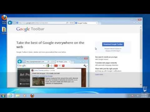 How to Install Google Search Bar in Internet Explorer