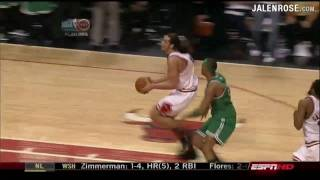 Joakim Noah INCREDIBLE Steal, Dunk AND 1 - Bulls vs Celtics Game 6 3OT - Jalen Rose on ESPN
