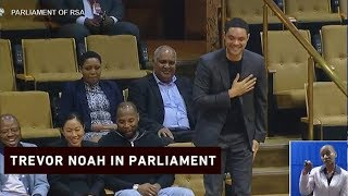President Cyril Ramaphosa welcomed Trevor Noah to the National Assembly on 7 March 2019. Ramaphosa introduced the international comedian as his special guest.