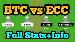 BTC vs ECC Dream11| BTC vs ECC | BTC vs ECC Dream11 Team|