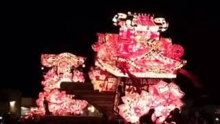 2016年に行われた雨竜郡沼田町の夜高あんどん祭りの喧嘩風景です。
