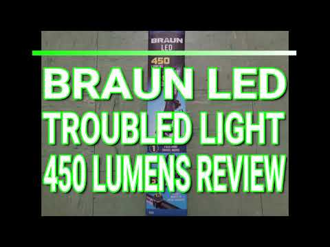 Harbor Freight Braun LED Trouble Light 450 Lumen Review