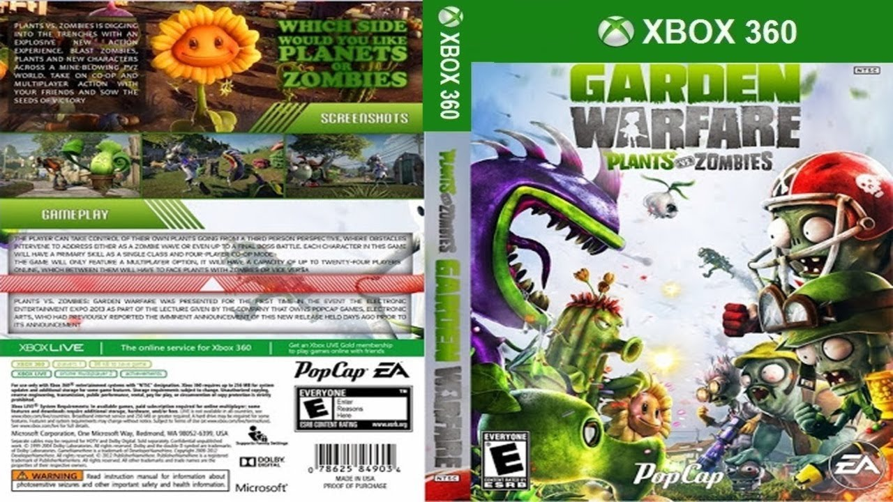 Plants Vs Zombies Garden Warfare Desbloqueio Rgh Jtag Xbox 360 Youtube