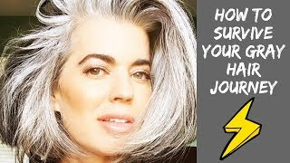 HOW TO SURVIVE YOUR GRAY HAIR JOURNEY | Nikol Johnson