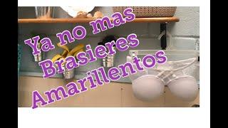 Cómo limpio? Vídeo 4 /Como desmanchar brasieres/ Como lavar los brasieres/Como lavar ropa interior