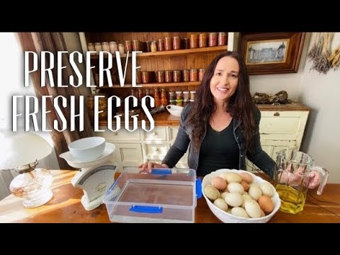 HOW TO PRESERVE EGGS LONG TERM - HOW TO PRESERVE FRESH EGGS - Water Glassing Eggs