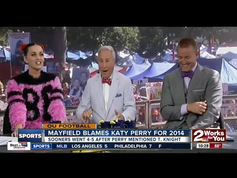 Baker Mayfield blames Katy Perry for Sooners