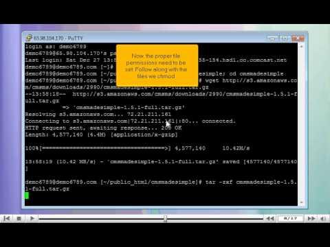 How to prepare CMS Made Simple for installation via SSH/PuTTY - CMS  Tutorials