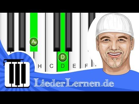 DJ Otzi - Nik P - Ein Stern - Klavier lernen - Musiknoten - Akkorde