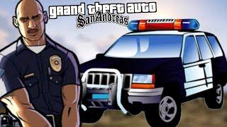 GTA SAN ANDREAS Mods #24 - POLÍCIA MAIS REALISTA MOD E CJ, A ISCA VIVA