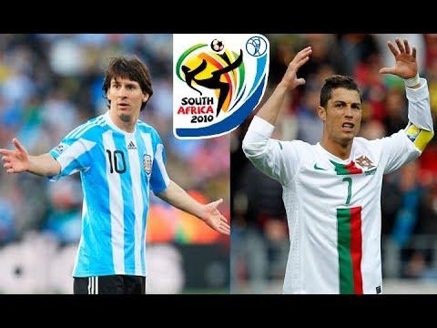 Asi fue el debut mundialista de Messi y Cristiano Ronaldo en Sudafrica 2010