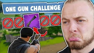 ONE GUN CHALLENGE!! - FORTNITE BATTLE ROYALE!! thumbnail