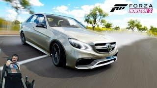 Боевой Mercedes-AMG E63 AMG W212 - Forza Horizon 3 на руле Fanatec CSL Elite