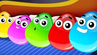 Five In The Bed | Crazy Eggs | Nursery Rhymes For Children | Videos by Kids Channel