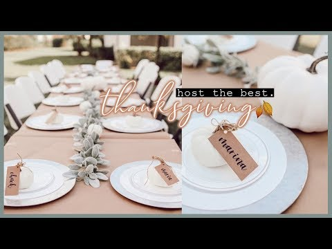 Host the BEST Thanksgiving || Decor, Tips & Games