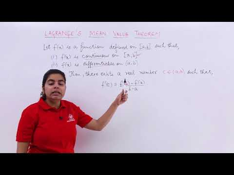 Lagrange's Mean Value Theorem Overview