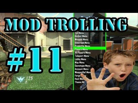 "Black ops 2 Mod Trolling #11 ""Hackers aren't good"""