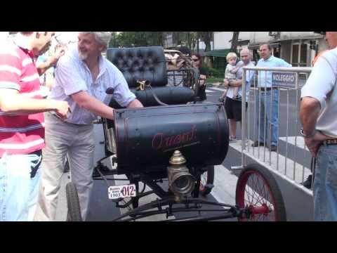 Antique Car Starting Ricoletta Area City Living Buenos Aires Argentina