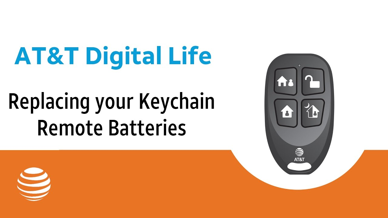 Replacing Your Keychain Remote Batteries At T Digital Life Youtube