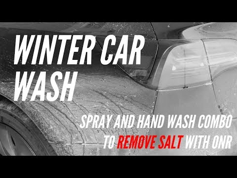 Winter Car Wash - Removing Salt And Grit Quickly And Safely: Tesla Model 3