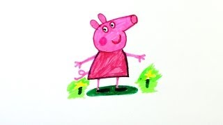 Peppa Pig (Draw And Color) / How To Draw Peppa Pig / My Dear Peppa Pig