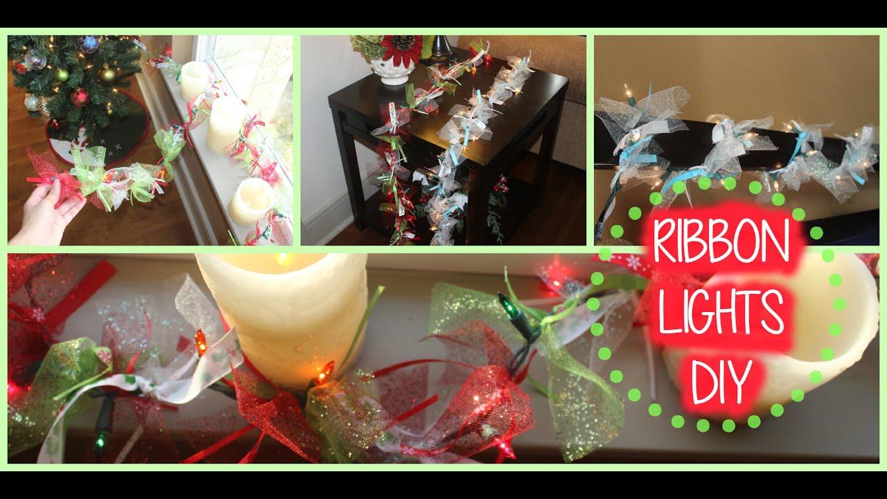 christmas diy ribbon tulle lights garland