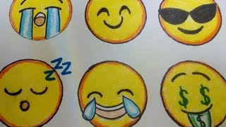 Video-Tutorial: WhatsApp Smileys (Emojis) malen.  How to Draw a Smiley Face
