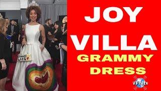 JOY VILLA, GRAMMY DRESS, PRO LIFE Painted her baby Picture on it! II VFNtv II