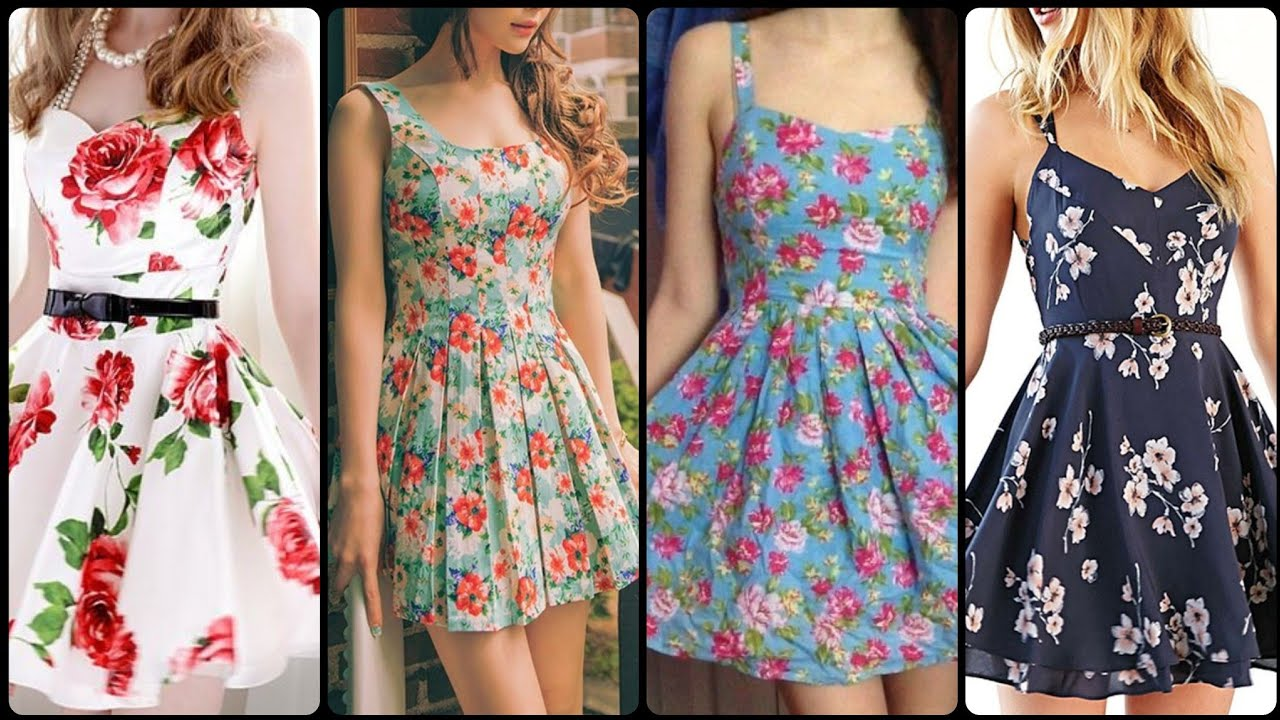 Beautiful Stylish And Cute Summer Outfits Idea's For Teen Girls /Mini & Midi Dress Design 2