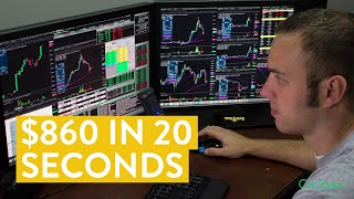 [LIVE] Day Trading | I Made $860 in 20 Seconds (Side Hustle Idea...)