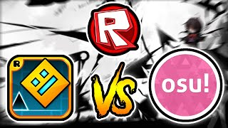 Galaxy Collapse / Osu! VS Geometry Dash VS Roblox (Comparison)