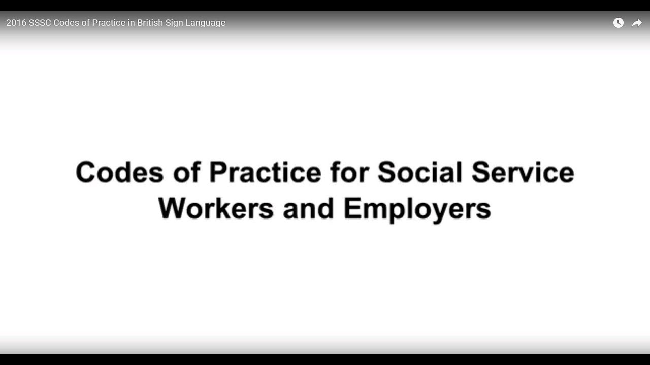 SSSC Codes of Practice - Scottish Social Services Council