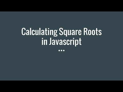 Calculating Square Roots in Javascript