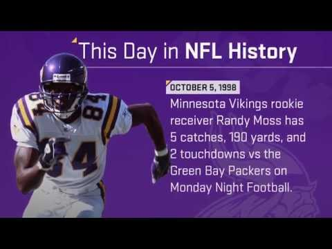 Vikings Rookie Randy Moss Torches Packers on MNF | This Day in NFL History (10/5/98)
