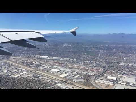 A380 landing at LAX Los Angeles airport - Lufthansa LH452
