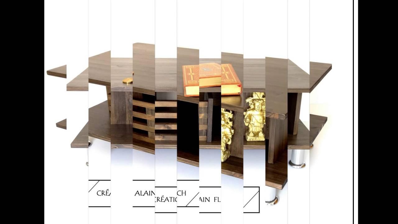 table basse avec ou sans aquarium eclairage sans fil entretien facile youtube. Black Bedroom Furniture Sets. Home Design Ideas