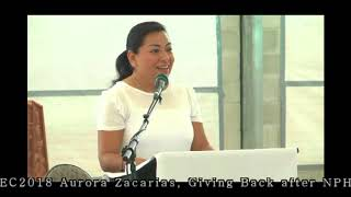 EC2018  -  Aurora Zacarias   -  Giving Back after NPH