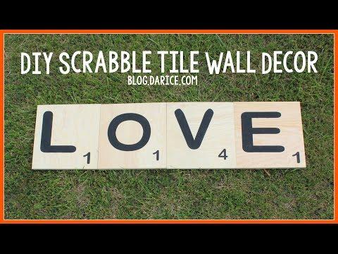 Scrabble Tiles Decor Project