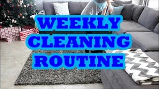 WEEKLY CLEANING ROUTINE | STAY AT HOME MOM | COLLAB WITH LAUREN MARIE