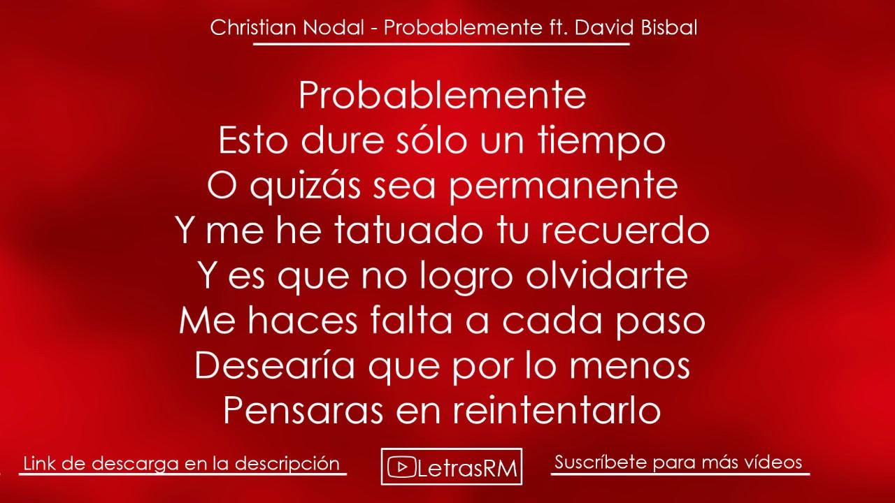 Download (LETRA) ¨PROBABLEMENTE¨ - Christian Nodal ft. David Bisbal