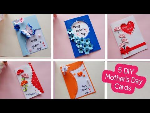 Download 5 DIY Mother's Day greeting cards/Easy and Beautiful card   ทำการ์ดวันแม่ 5 แบบน่ารักๆ