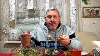 """Теплый салат  """"Душевная закуска"""" Вкусные рецепты из доступных продуктов."""