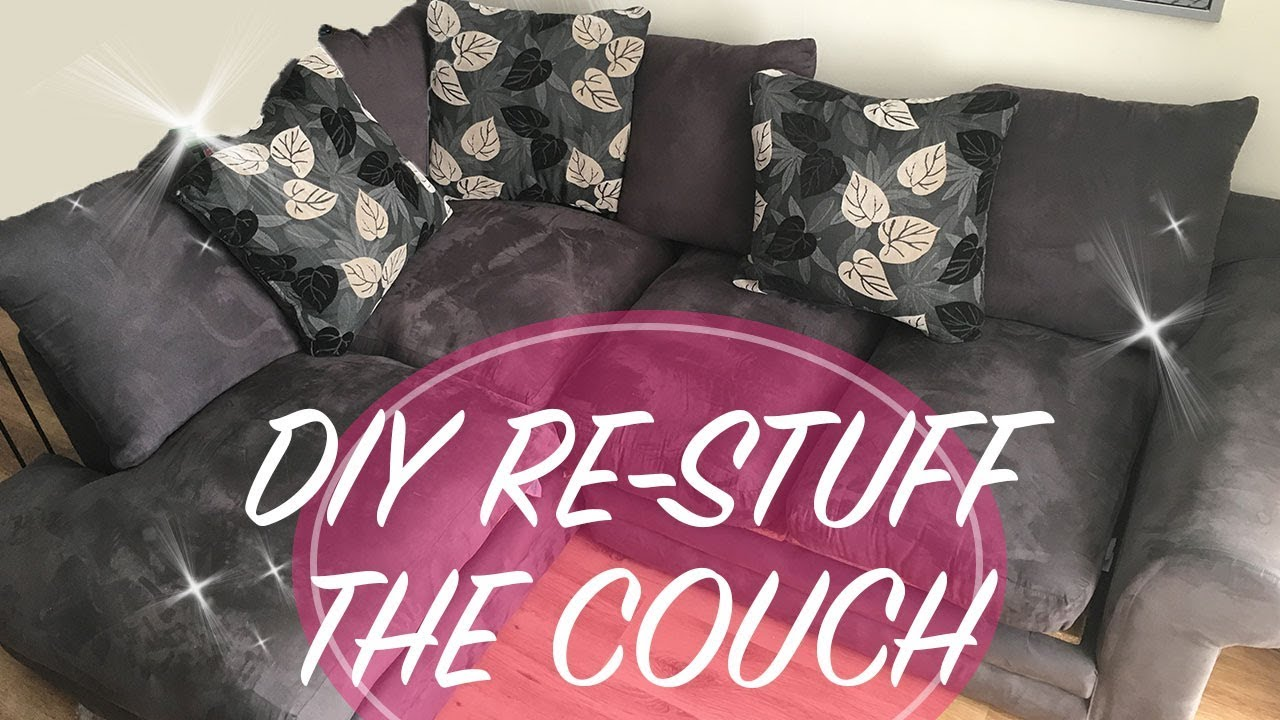 Sofa Cushions That Don't Go Flat Diy How To Restuff A Couch Fix A Sofa Flat Sofa Repair Sofa Repair Couch Cushion