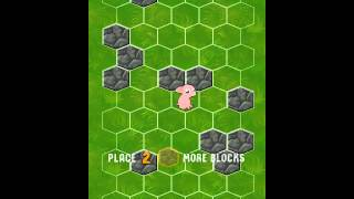 Block the Pig turn-based puzzle game on Firefox OS 2.2