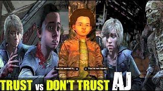 Güven vs Zor Çağrıları - Walking Dead Son Sezon Bölüm 4 (2019)Yapmak İçin AJ güvenmiyor