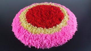 উলের সুতা দিয়ে নাইস পাপোশ তৈরি   DIY-Doormat-Out-Of-Woolen-Threads