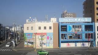 安倍川~静岡駅、東海道本線、進行方向左側車窓から/Abekawa~Shizuoka